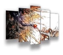 Quadro Decorativo Mosaico 5 Peças Anime 18 Mod199 - Neyrad