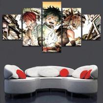 Quadro Decorativo Mosaico 5 Peças Boku No Hero Academy - Decorestudio