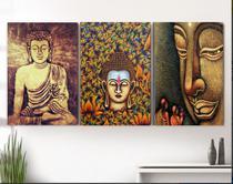 Quadro Decorativo mosaico 5 peças buda budismo meditação painel decoração modelo 1 - Neyrad
