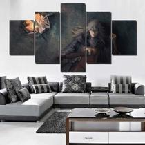 Quadro Decorativo Mosaico 5 Peças Dark Souls 3 - Premium Art Decoracoes