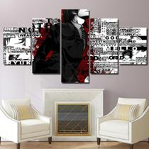 Quadro Decorativo Mosaico 5 Peças Death Note - Decorestudio