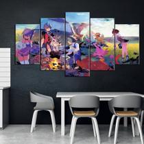 Quadro Decorativo Mosaico 5 Peças Digimon Anime Game - Decorestudio
