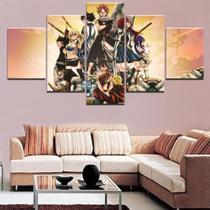 Quadro Decorativo Mosaico 5 Peças Fairy Tail - Decorestudio