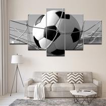 Quadro Decorativo Mosaico 5 Peças Futebol Gol Rede - Decorestudio