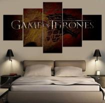 Quadro Decorativo Mosaico 5 Peças Game Of Thrones - Decorestudio