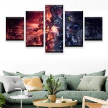 Quadro Decorativo Mosaico 5 Peças Halo 5 Guardians. - Paradecoração