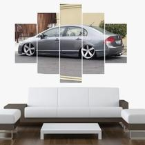 Quadro Decorativo Mosaico 5 Peças Honda Civic - Premium Art Decoracoes
