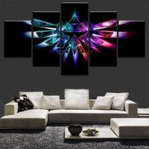 Quadro Decorativo Mosaico 5 Peças Legend Of Zelda Twilight - Decorestudio