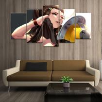 Quadro Decorativo Mosaico 5 Peças Lindholm Overwatch - Decorestudio