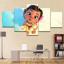 Quadro Decorativo Mosaico 5 Peças Moana Bebê - Decorestudio