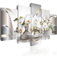 Quadro Decorativo Mosaico 5 Peças Orquídeas Brancas. - Mr Decorações / Paradecoração