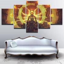 Quadro Decorativo Mosaico 5 Peças Overwatch Zenyatta. - Paradecoração