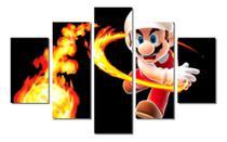 Quadro Decorativo Mosaico 5 Pecas Super Mario - Decorestudio