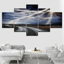 Quadro Decorativo Mosaico 5 Peças Tempestade - Decorestudio