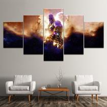 Quadro Decorativo Mosaico 5 Peças Thanos - Decorestudio