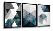 Quadro Decorativo Mosaico Abstrato 3 Peças 50x70 Grande - Neyrad