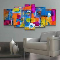 Quadro Decorativo Mosaico Abstrato Colorido - Caverna Quadros