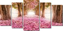 Quadro decorativo mosaico caminho com Ypê rosa - Collor Graf Distribuidora