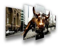 Quadro Decorativo Mosaico Charging Bull Touro De Wall Street - Mr Decorações / Paradecoração