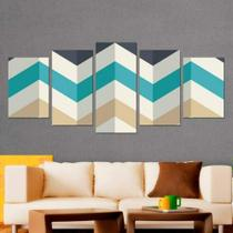 Quadro Decorativo Mosaico Chevron - Caverna Quadros