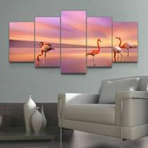 Quadro Decorativo Mosaico Flamingo - Caverna Quadros