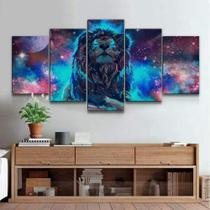 Quadro Decorativo Mosaico Leão Galaxia - Caverna Quadros