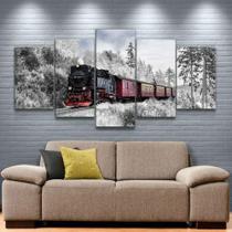 Quadro Decorativo Mosaico Locomotiva - Caverna Quadros