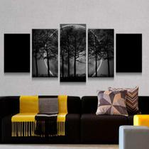 Quadro Decorativo Mosaico Lua Cheia E Árvores 06 - Caverna Quadros