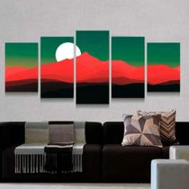 Quadro Decorativo Mosaico Lua E Montanhas 08 - Caverna Quadros