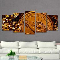 Quadro Decorativo Mosaico Moeda - Caverna Quadros