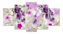 Quadro Decorativo Mosaico Mosaico Flor Orquídea Branca - Neyrad