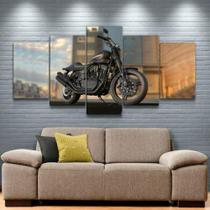 Quadro Decorativo Mosaico Moto Preta - Caverna Quadros