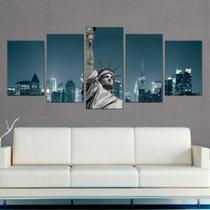 Quadro Decorativo Mosaico Nova York Estatua Da Liberdade 02 - Caverna Quadros