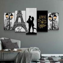 Quadro Decorativo Mosaico Paris Casal Frase 03 - Caverna Quadros
