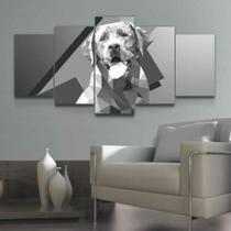 Quadro Decorativo Mosaico Poligonal Geométrico Cachorro - Caverna Quadros