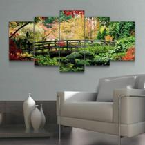 Quadro Decorativo Mosaico Ponte E Árvores - Caverna Quadros