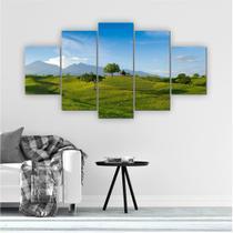 Quadro Decorativo Mosaico Quarto Sala Paisagem 5 peças 144x60cm - Inove Adesivos