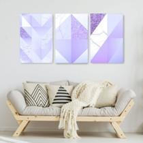 Quadro Decorativo Mosaico Roxo Glitter - Caverna Quadros