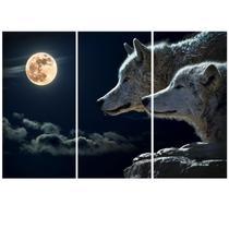 Quadro Decorativo Mosaico Sala Lobo Animal - Própria