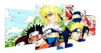 Quadro Decorativo Mosaico Sala Quarto 5 Peças Anime Naruto - Premium Art Decoracoes