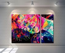 Quadro Decorativo Mulher Colorida Moderna - Quadros Decorativos