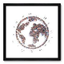 Quadro Decorativo - Mundo - 50cm x 50cm - 041qndcp - Allodi