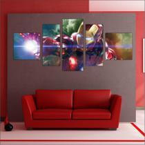 Quadro Decorativo Os Vingadores Avengers Homem De Ferro 5 Peças TT3 - Vital