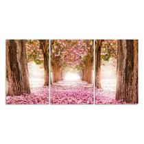 Quadro Decorativo Para Sala Árvore Cerejeira Rosa - Show Vendas