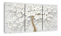 Quadro Decorativo Parede Flores Cerejeira Branca Árvore - Decorestudio