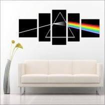 Quadro Decorativo Pink Floyd Bandas Música Mosaico 5 Peças TT2 - Vital