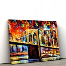 Quadro Decorativo Ponte do Brooklyn 60x90cm Sala ou Quarto - Artplex