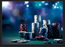 Quadro Decorativo Pôquer Jogo de cartas Salas Baralho Decorações Com Moldura - Vital Quadros