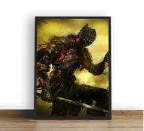 Quadro Decorativo Poste Dark Souls 3 Soul Of Cinder Classico - Quadros A+
