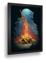 Quadro Decorativo Poste Dark Souls Souls Like Classico - Quadros A+
